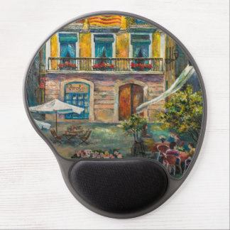 A mousepad with Barcelona`s view Gel Mouse Pad