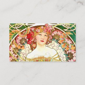 A Mucha Lady Business Card