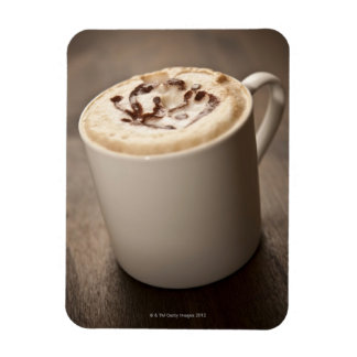 A mug of Cappuccino coffee topped with melted Rectangular Photo Magnet