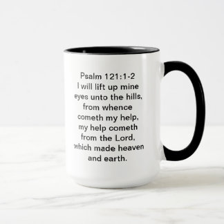 A mug that refers to the Lord being your help