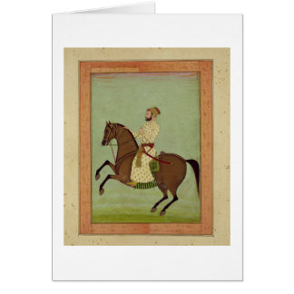 A Mughal Noble on Horseback, c.1790, from the Larg Card