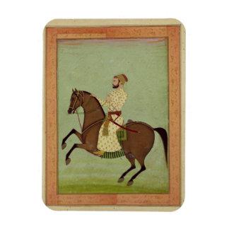 A Mughal Noble on Horseback, c.1790, from the Larg Rectangular Photo Magnet