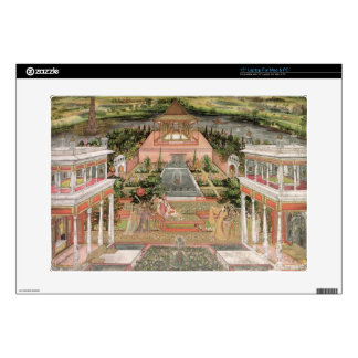 "A Mughal Princess in her Garden (gouache on paper) 15"" Laptop Skin"