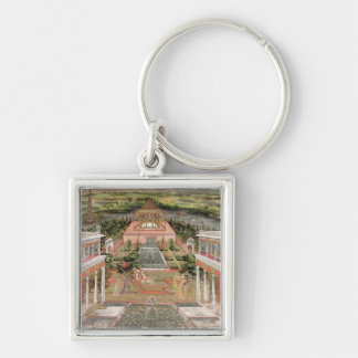 A Mughal Princess in her Garden (gouache on paper) Keychain