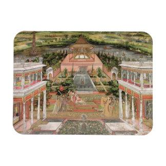 A Mughal Princess in her Garden (gouache on paper) Vinyl Magnet