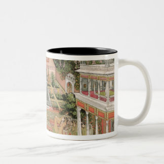 A Mughal Princess in her Garden (gouache on paper) Two-Tone Coffee Mug
