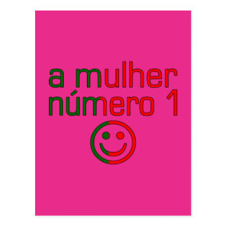 A Mulher Número 1 - Number 1 Wife in Portuguese Postcard