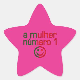 A Mulher Número 1 - Number 1 Wife in Portuguese Sticker