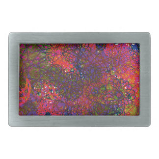 A multicolor abstract circle design belt buckle