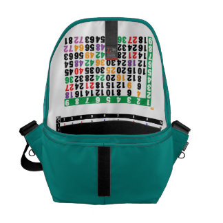a multiplication table for math computation courier bag