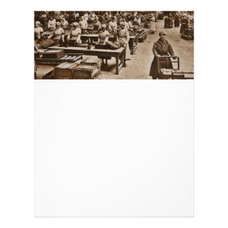 A Munitions Factory Woman WWI Letterhead