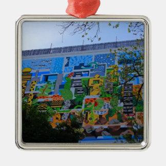 A Mural on the San Antonio Riverwalk Metal Ornament