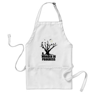 A Murder in Progress Adult Apron