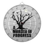 A Murder in Progress Dartboard
