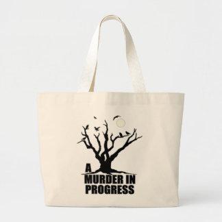 A Murder in Progress Large Tote Bag