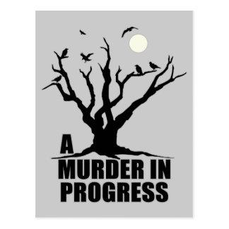 A Murder in Progress Postcard