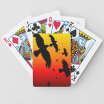 A Murder of Crows Against A Haunting Sunset Bicycle Playing Cards