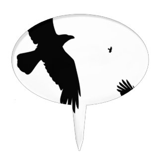 A Murder of Crows Cake Topper