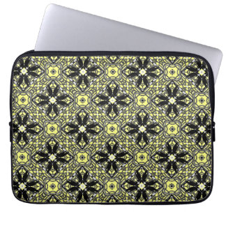 A Murder Of Crows Kaleidoscope Square Laptop Sleeve