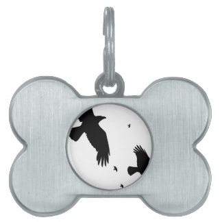 A Murder of Crows Pet Tag