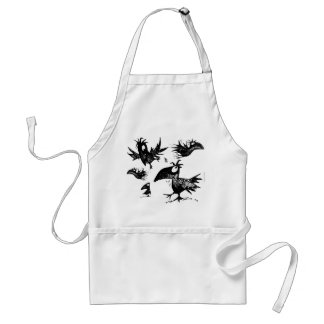 A Murder of Funny Black Crows Adult Apron