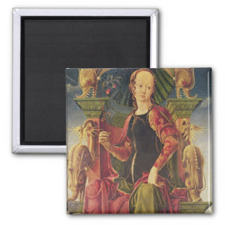 A Muse, c.1455-60 2 Inch Square Magnet