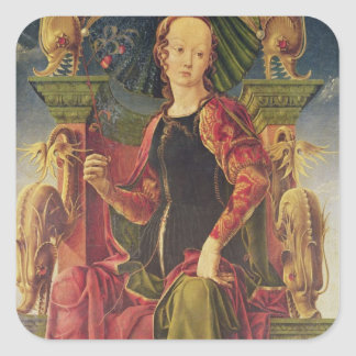 A Muse, c.1455-60 Square Sticker