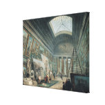 A Museum Gallery with Ancient Roman Art Canvas Print
