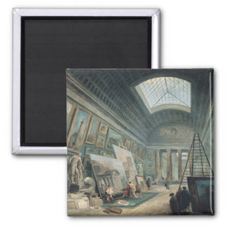 A Museum Gallery with Ancient Roman Art Magnet