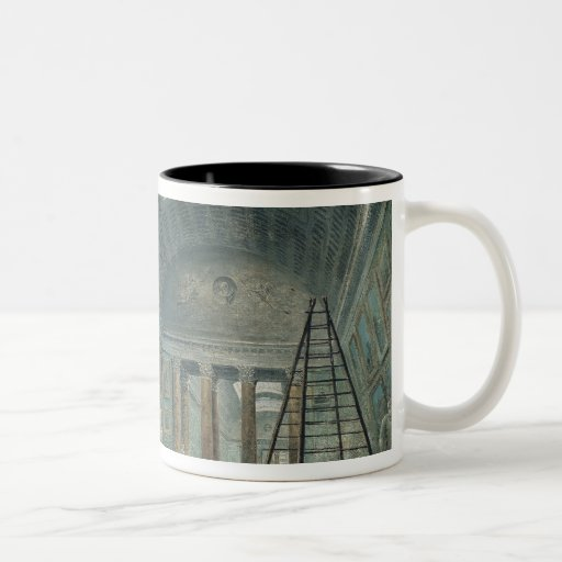 A Museum Gallery with Ancient Roman Art Two-Tone Coffee Mug
