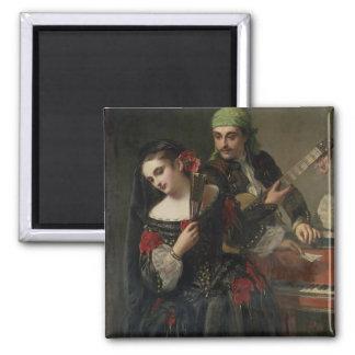 A Music Lesson, Seville 2 Inch Square Magnet