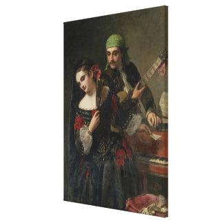 A Music Lesson, Seville Canvas Print