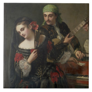 A Music Lesson, Seville Ceramic Tile