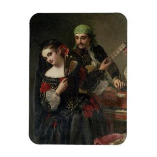 A Music Lesson, Seville Rectangular Photo Magnet