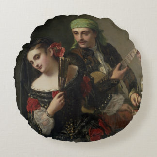 A Music Lesson, Seville Round Pillow
