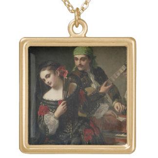 A Music Lesson, Seville Square Pendant Necklace