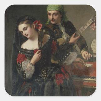 A Music Lesson, Seville Square Sticker