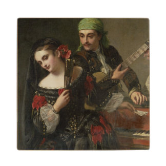 A Music Lesson, Seville Wood Coaster