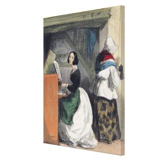 A Music School Pupil, from 'Les Femmes de Canvas Print