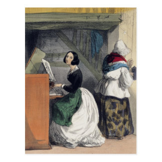 A Music School Pupil, from 'Les Femmes de Postcard