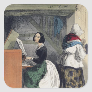 A Music School Pupil, from 'Les Femmes de Square Sticker