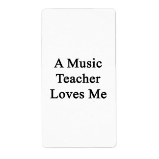 A Music Teacher Loves Me Personalized Shipping Labels
