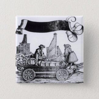A Musical Carriage Pinback Button