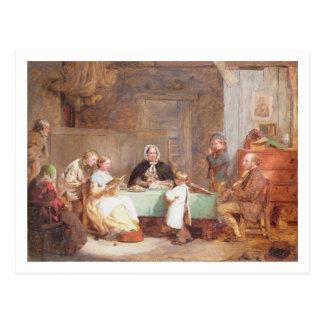 A Musical Evening (oil on canvas) 2 Postcard