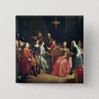 A Musical Evening (oil on canvas) Button