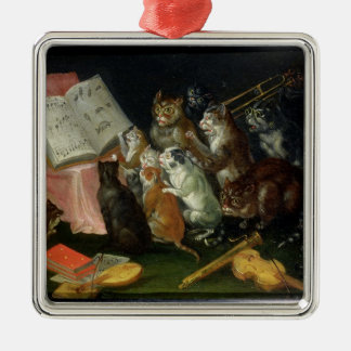 A Musical Gathering of Cats Christmas Tree Ornament