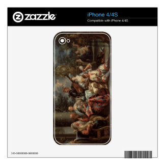 A Musical Interlude on a Patio (pair with 59639) Decals For iPhone 4