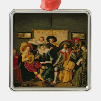 A Musical Party, c.1625 Metal Ornament