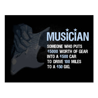 A Musician is… Postcard