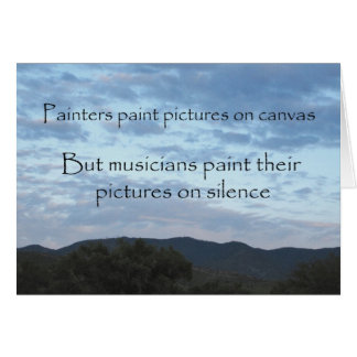 A Musician's Canvas Greeting Card